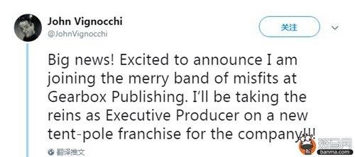 《无主之地》开发商Gearbox正在开发全年龄向新作
