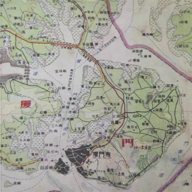 《厦门市地图》1960年绘制图片
