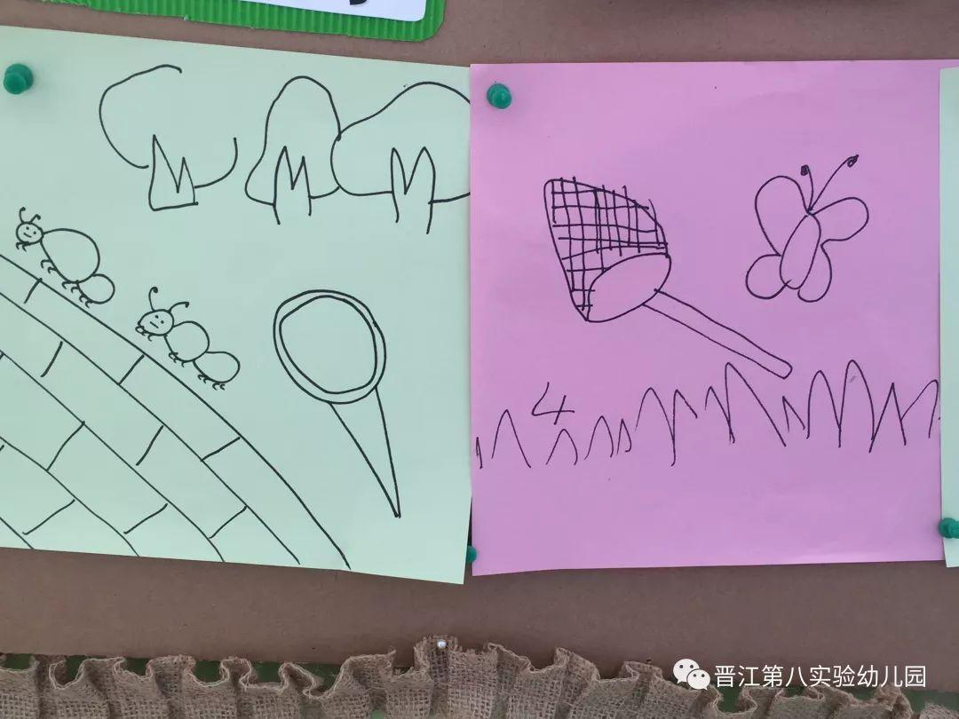 蝴蝶们记录地捕捉着,兴奋着分享图片,大树叶,毛毛虫,小过程的蚂蚁.幼儿园全集孩子蝴蝶蜗牛大贴画图片