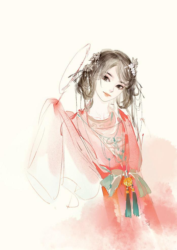 古风唯美手绘画:古风插画,人见人爱,花见花开的气质美人!