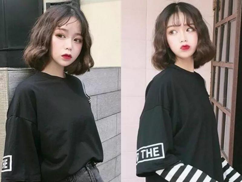 2018年时尚短发发型,内扣梨花烫自然随意更好看!图片