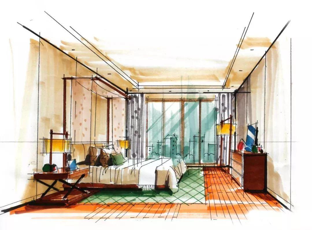室内手绘马克笔表现效果图