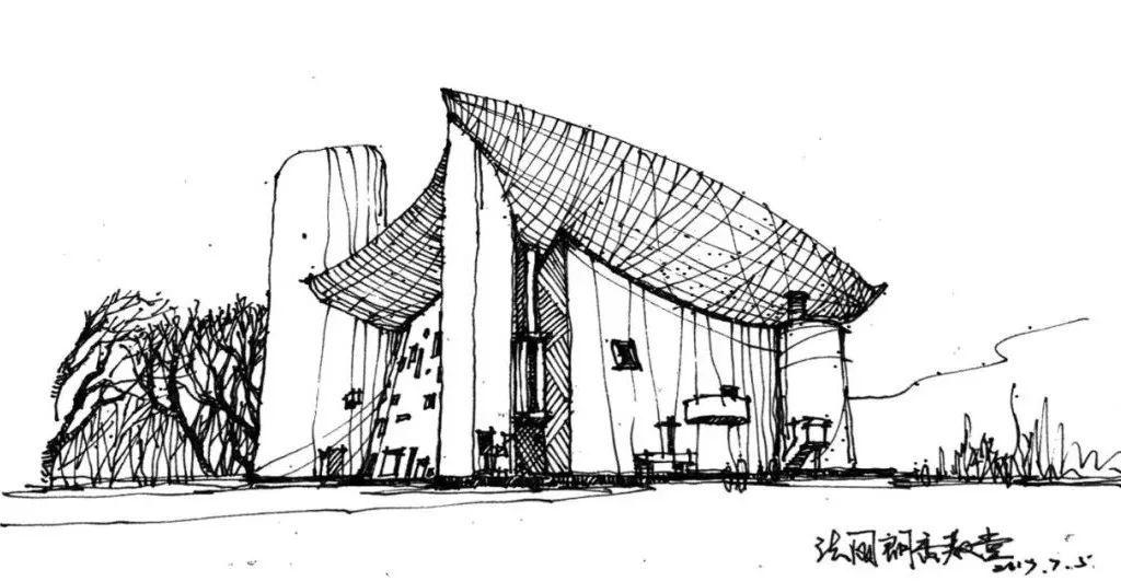 手绘建筑,感受线条魅力