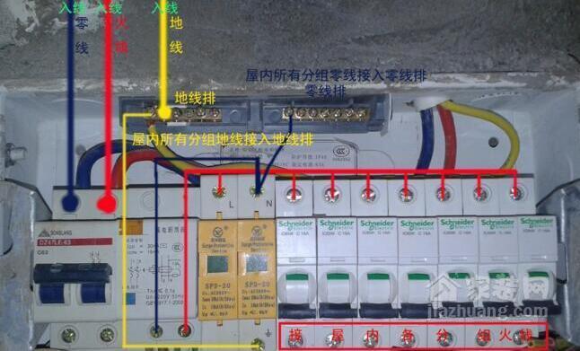 防爆配电箱接线图