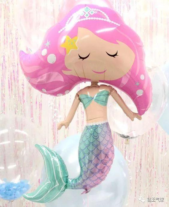 美人鱼生日主题派对-很适合游泳池,小宝贝满月,百日宴会场哦,满满的