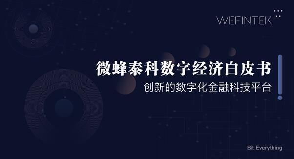 《微蜂泰科数字经济白皮书》正式发布-识物网 - 15NEWS.CN