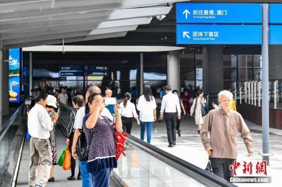 """港珠澳大桥通车首日:""""大桥游""""火热,观桥时乘客欢呼鼓掌"""