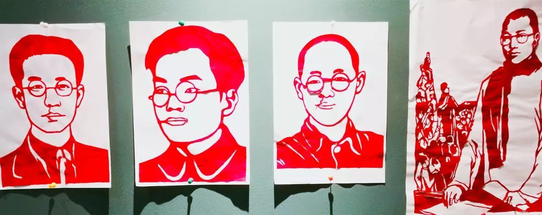 叶峰老师的油画作品,姚梦婕,陈尚含老师的中国画作品,林嘉裔老师的