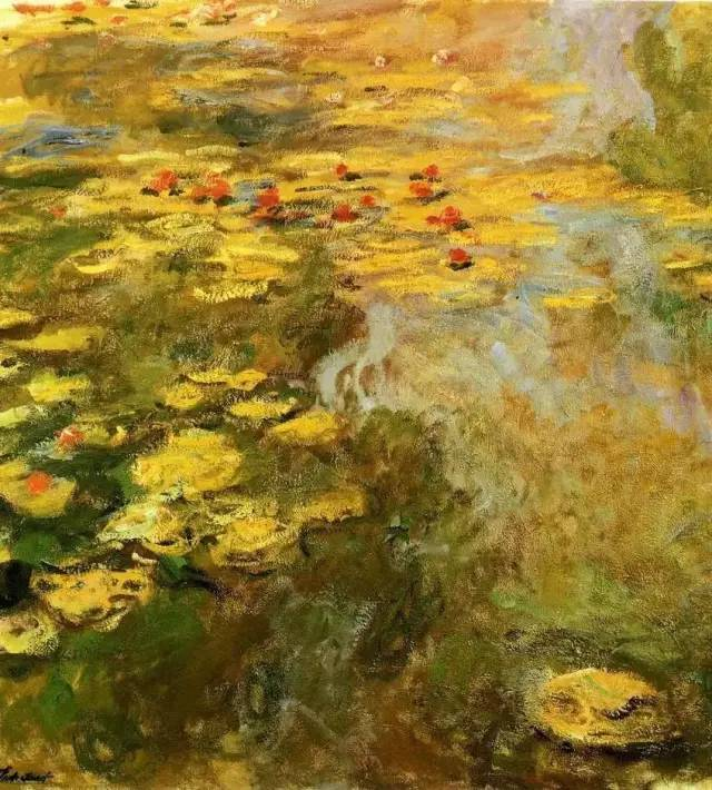 莫奈风景画中笔触的力度美感和层次美感