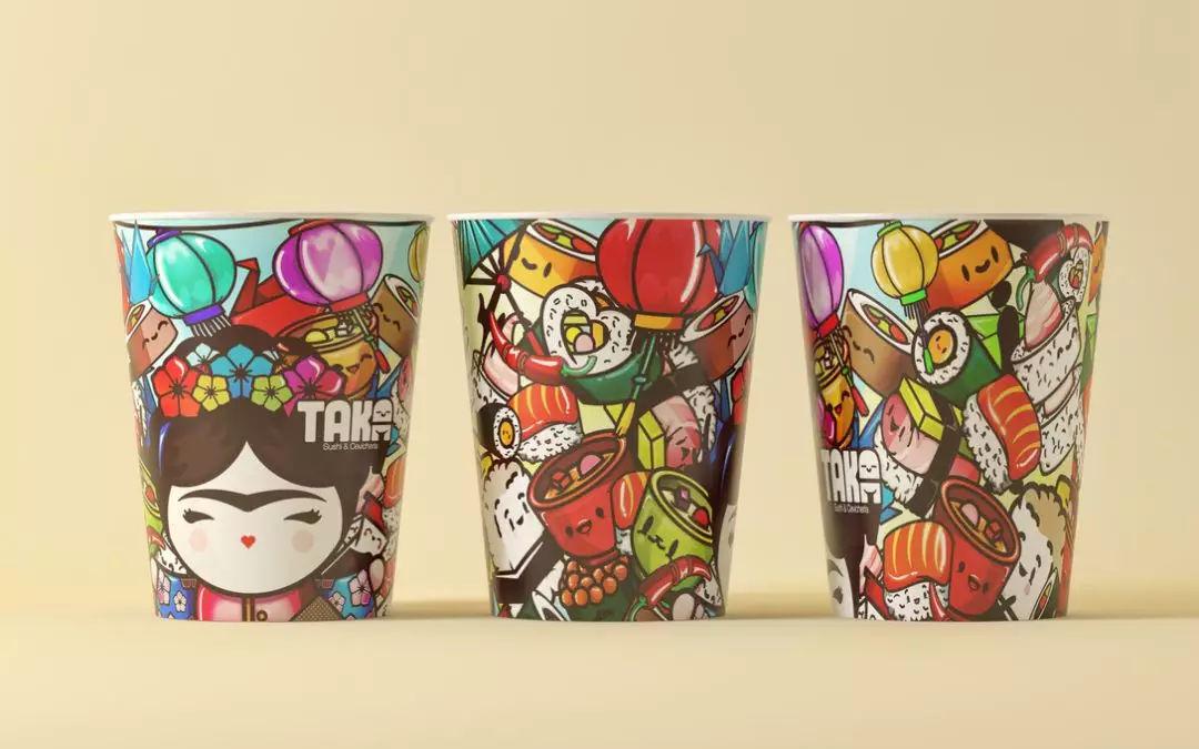 品牌的主视觉形象 十分可爱~ 这些插画的主要表现形式 是 将寿司拟人图片