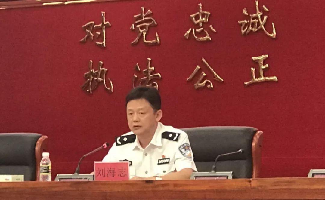 海南省公安厅副厅长刘海志在新闻发布会现场讲话图片