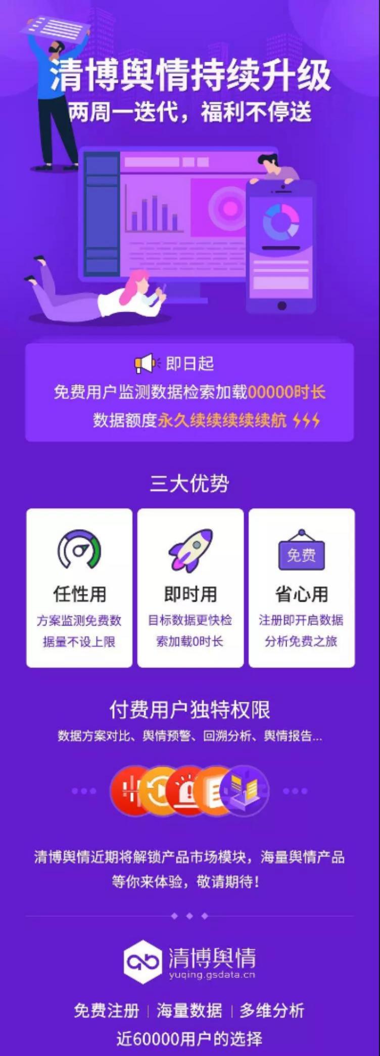 官宣:清博舆情福利版本舆情分析平台免费时代开启!