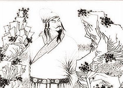 佛教禅手绘图片