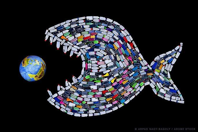塑料包围下的地球