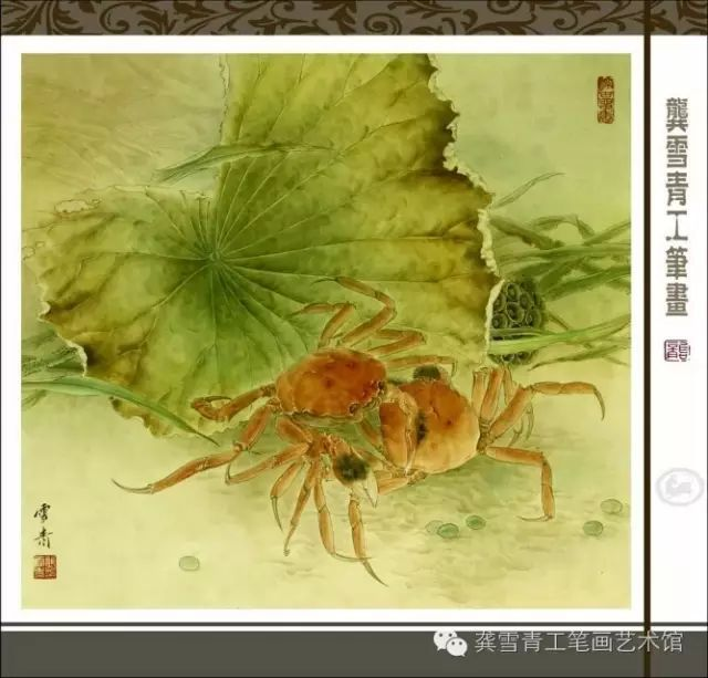 一,白描勾线:鲤鱼用中墨,红牡丹用浓墨,白牡丹用淡墨,近处叶子用浓墨
