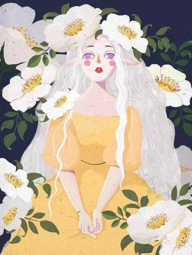 拿这组水彩手绘图当壁纸吧,日本插画师最得意的作品