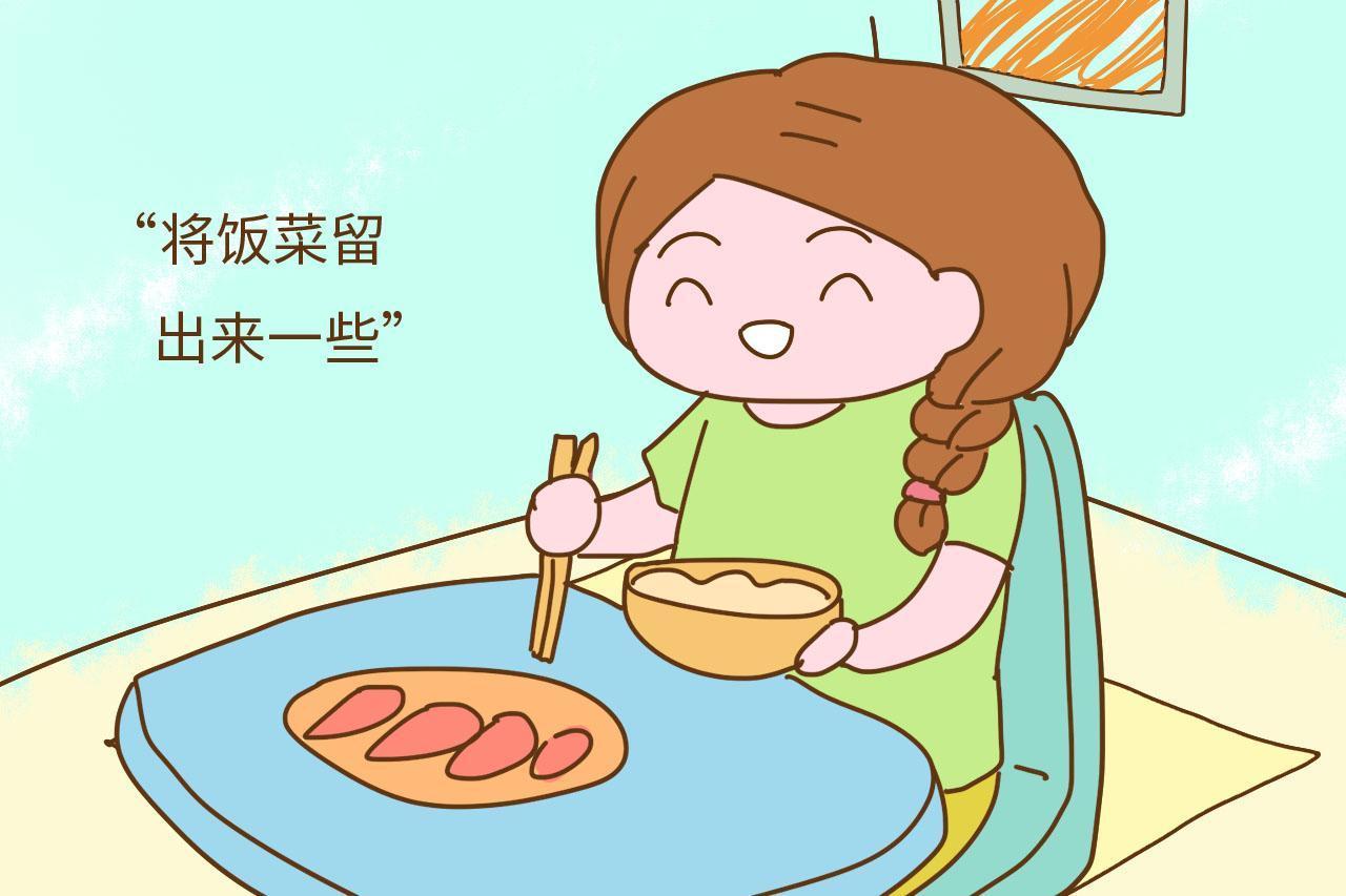 自己吃饭简笔画