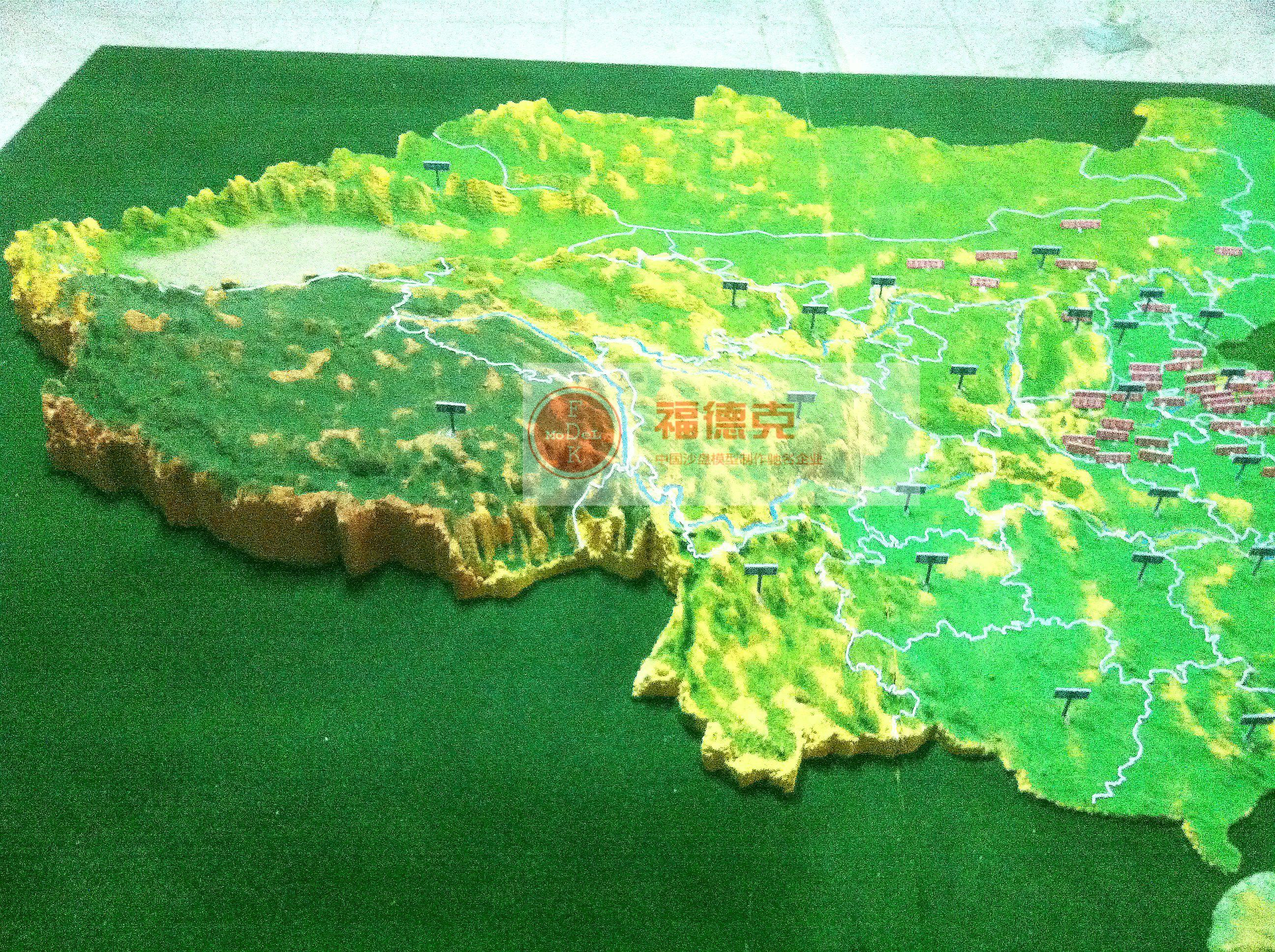 中国沙盘立体地形图_中国地图卫星地图高清图片