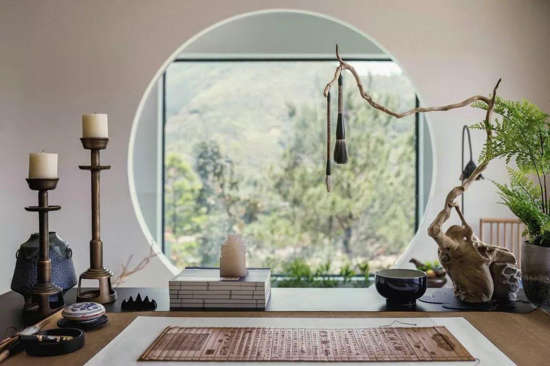 书香意境背景囹�a_茶香四溢,书香满屋,凸显空间的悠然意境.