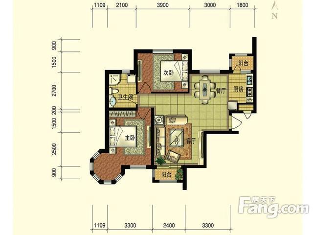 Get新技能围观2室2厅1卫1厨样板间在家轻松选房