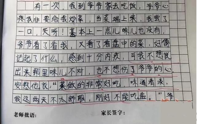 11岁女孩的一篇作文让人流泪!网友:多让人暖心的孩子!