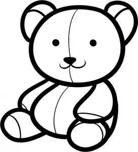 简笔画 泰迪熊 巧手教育