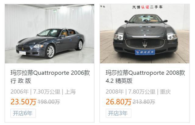 15万的保时捷、25万的玛莎拉蒂 那些白菜价二手豪华车能不能买?