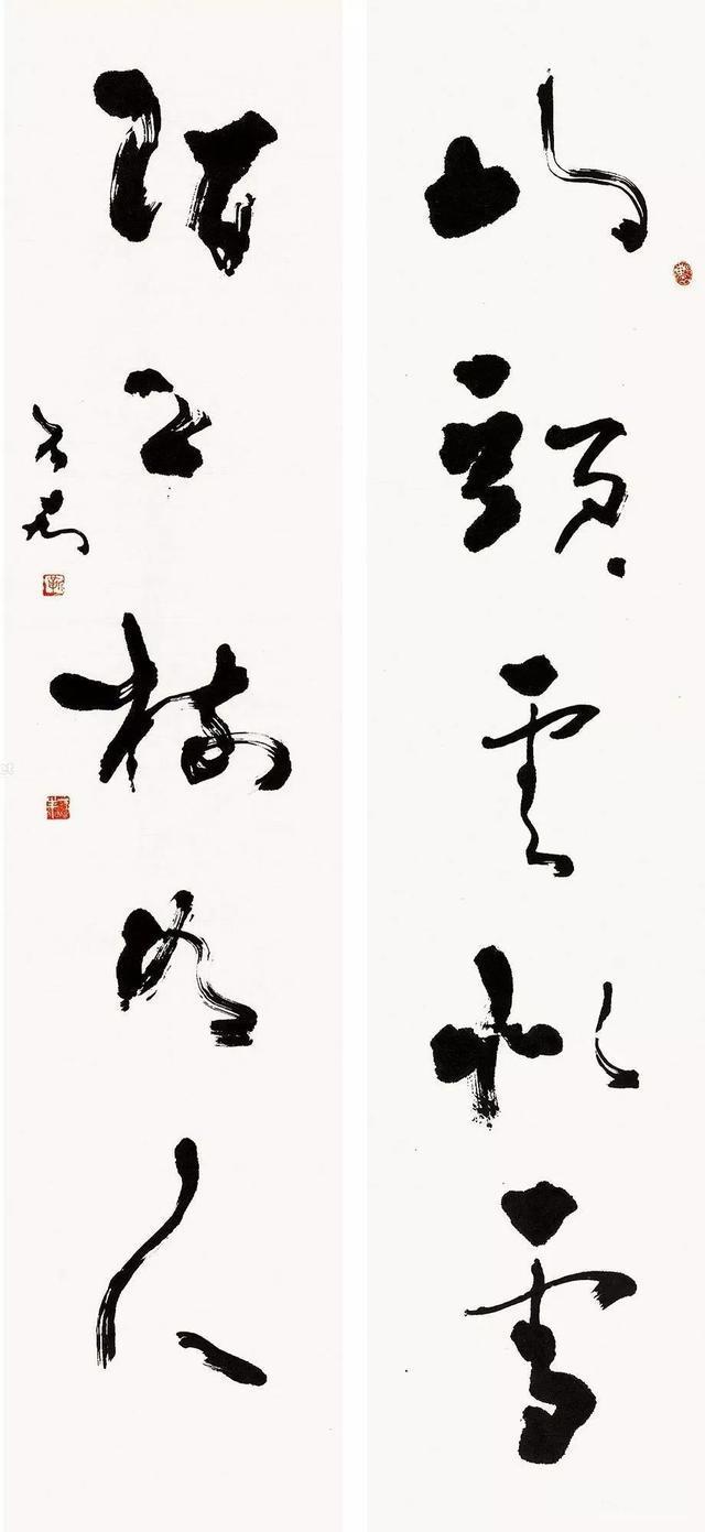 书法方面,真行草隶篆兼善,尤擅大篆和行草,篆书造型古雅,笔墨苍劲有力图片