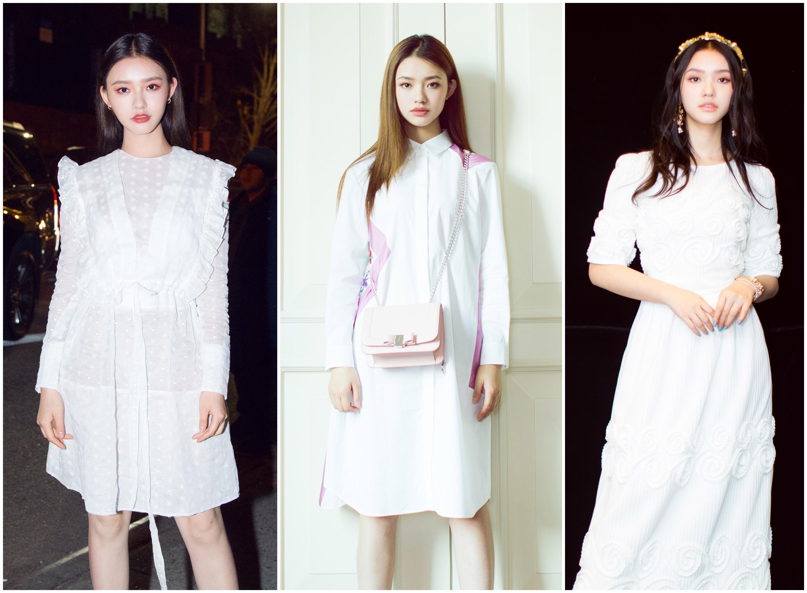 国内9位女星提名最美面孔,同穿白色比美,谁才是你心中的白月光