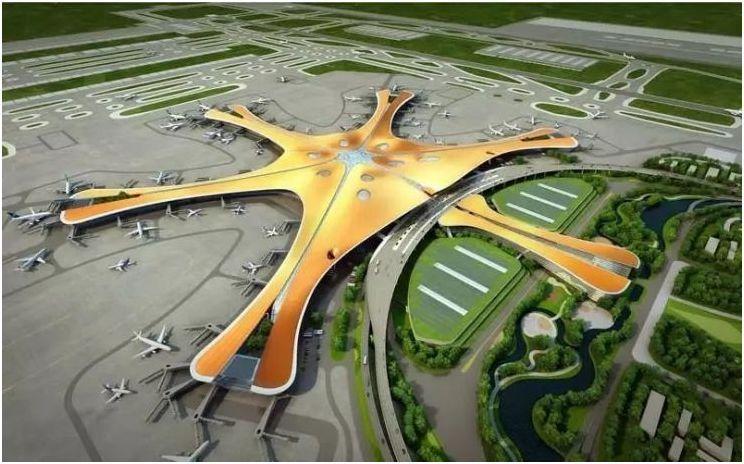 """届时,北京新机场周边将形成""""五纵两横""""的交通路网,随着新机场高效立体图片"""