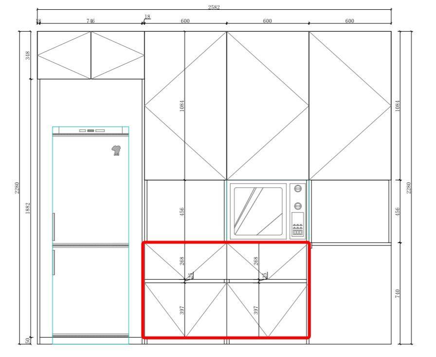 厨房橱柜平面图纸