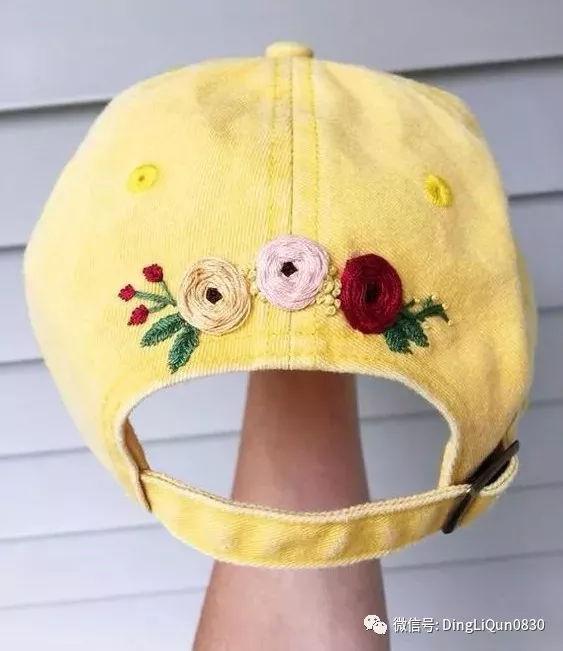 帽子 围巾 手套 衣物等上的刺绣作品欣赏