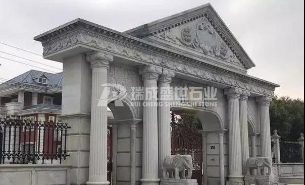 30款别墅石材围栏大门柱子
