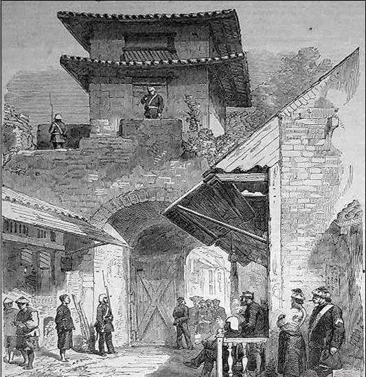 广州东城门手绘图
