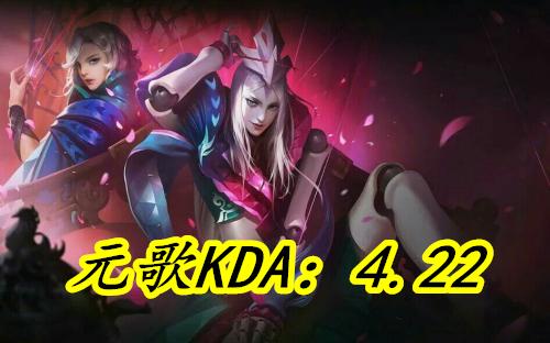 王者荣耀:最新峡谷刺客KDA排行曝光,8技能元歌荣登榜首李白落榜