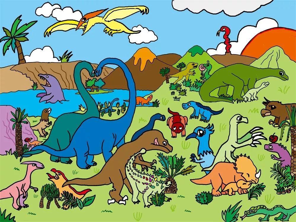 《恐龙世界》 小学组 宋美霖 广东省深圳市图片