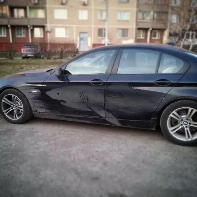 """俄羅斯""""灰塵藝術家"""",給你一個不洗車的理由!-華夏娛樂360"""