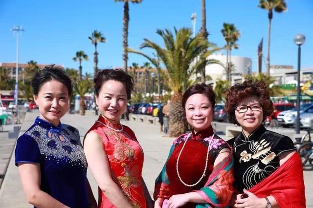 东方丽人行他国,更爱中华旗袍美—西班牙中华妇女联谊活动掠影