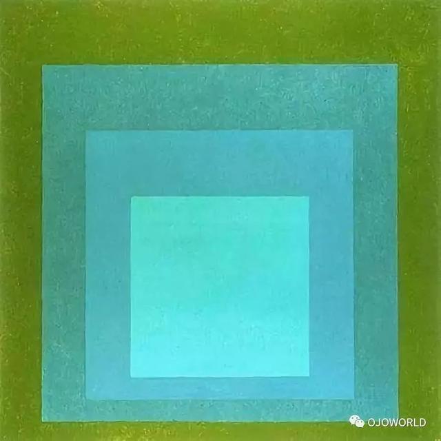 """当然josef albers 远不止""""四方格子的致敬"""",更有他类作品表达出,他在色彩、几何图形、结构的深层研究;同时对光线、空间在视觉效果上的设计也有较深的造诣."""