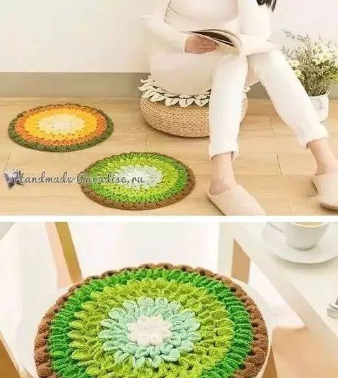 老奶奶亲手编织的莲花坐垫,邻居们羡慕不已!