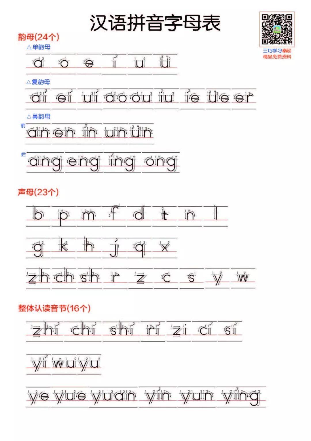 拼音书写练习本(自写板) 汉语拼音字母卡片(全套) 一年级上册拼音过关图片