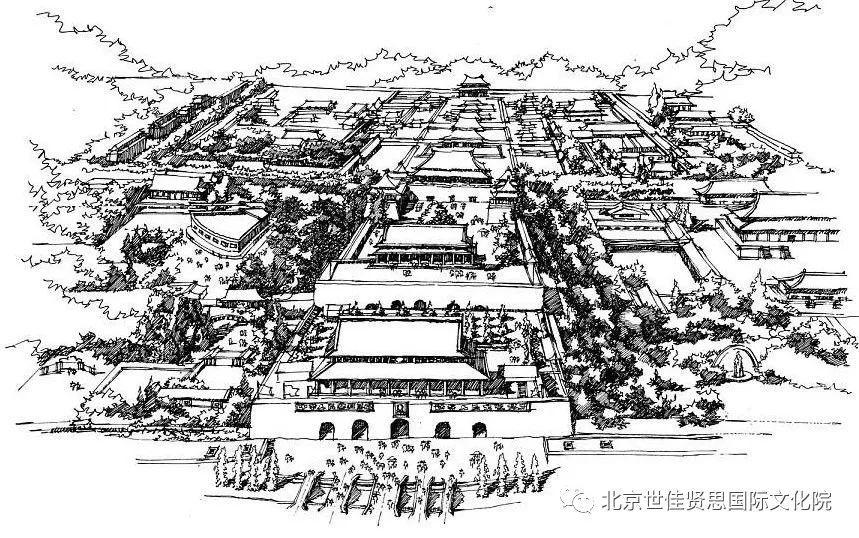 故宫手绘平面图简笔画