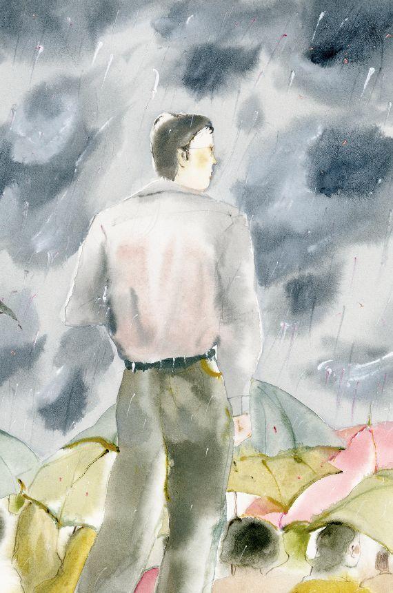 【本土插画师】大龙:一个人的时候图片