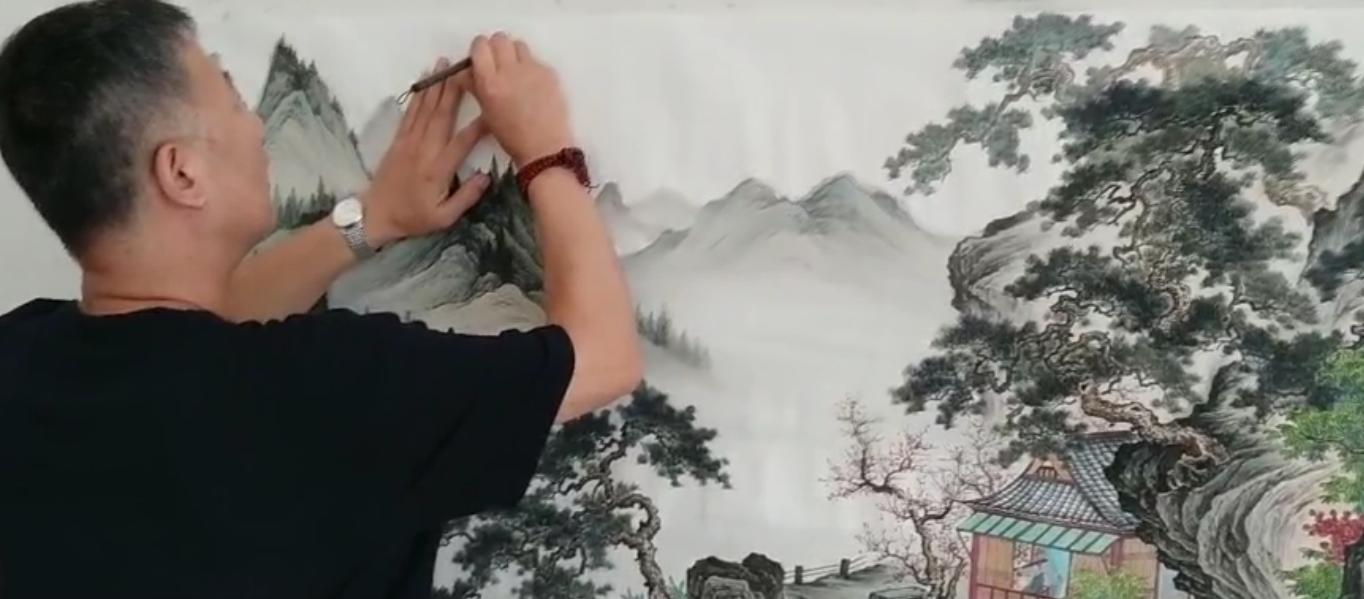 山水淡墨间,品赏当代画家王宁山水画艺术