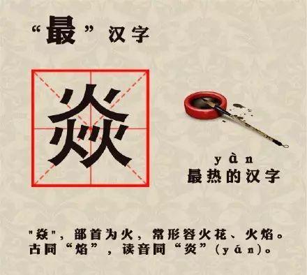 最 汉字的字,涨知识