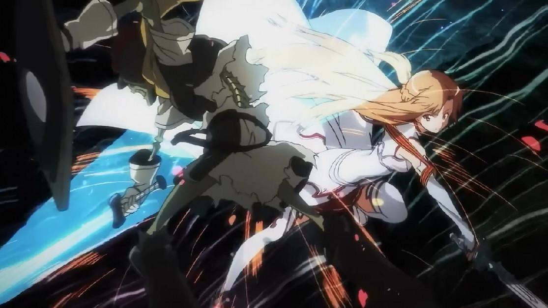 刀剑神域:亚丝娜VS骷髅怪,用静态模式来看,竟然这幺美!