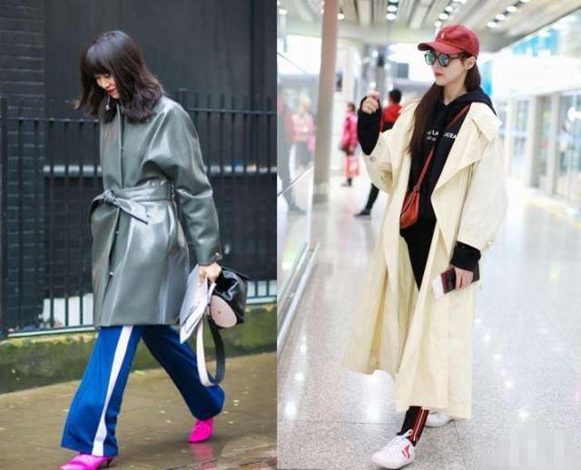 """女人别总穿阔腿裤,今年流行的""""瘦瘦裤"""", 搭配风衣和大衣都好看"""