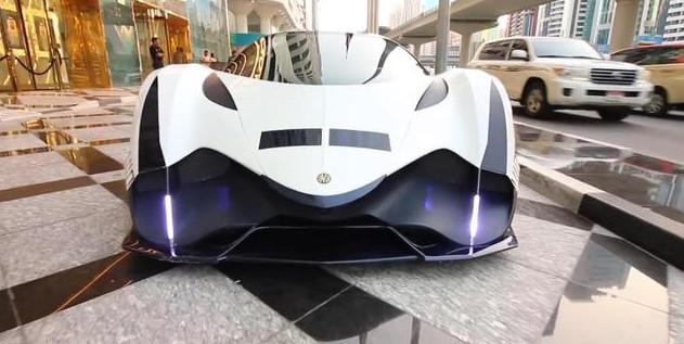 来自迪拜本土制造的超跑尾部设计似火箭比布加迪威航还要快_pk10