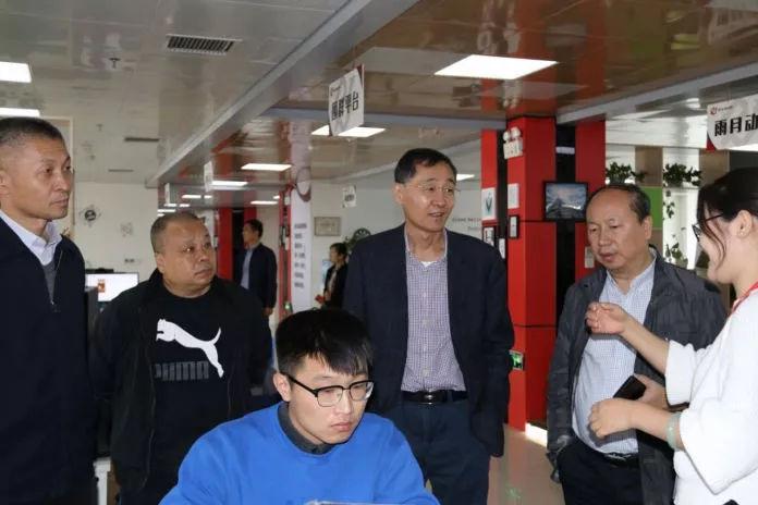 省商务厅服务贸易处处长王苏一行到中关村e谷(南阳)软件创业基地调研