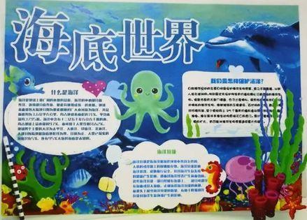 青岛南京路小学海洋教育系列活动——海洋知识手抄报分享会图片